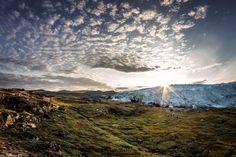 Glaciers in Greenland – streams of ice in the Arctic regions