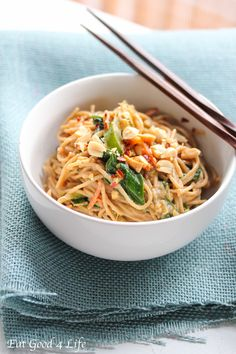 Peanut and coconut noodles from eatgood4life.com. These are done in just 20 minutes. You can add any vegetables of your choice and if you like a gluten free version you can use rice noodles. #healthy #cleaneating