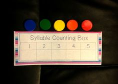 Counting Syllables & Segmenting Words Using a Counting Box