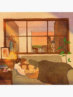 Cute Couple Drawings, Cute Couple Art, Cute Drawings, Love Cartoon Couple, Cute Love Cartoons, Couple Illustration, Illustration Art, Puuung Love Is, Illustrator