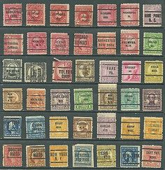 US Stamp Collection Of 42- mix 2¢ old Postage Due, Toledo Ohio Pre-Cancel rare