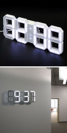 #LED #clock would be awesome in a Boys #dorm! // Riesen-LED-#Uhr für die #Wand