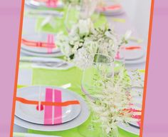 Nothing creates more of a party atmosphere than neon, and if you're aiming for a more celebratory, relaxed atmosphere this could be an amazing set of colours for your wedding!