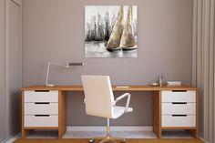 Acryl Gemälde 'Mit dir um die Welt' 80x80cm