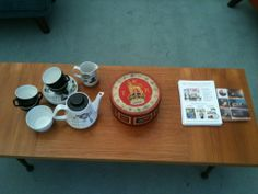 Fancy a cuppa? Magazine Display, Wilderness, Upholstery, Fancy, Antiques, Tableware, Vintage, Antiquities, Tapestries