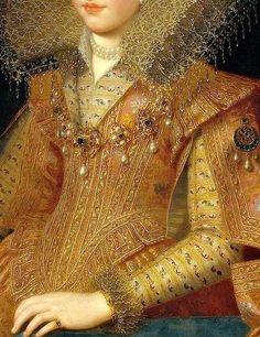 Frans Pourbus the Younger.(1569-1622). Retrato de Margarita de Gonzaga.(detalle)