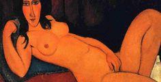 Modigliani, Nudo disteso con i capelli sciolti, 1917