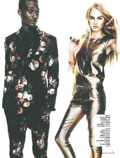 """ART RING"" Black tourmaline featured in Ikon Magazine December 2014."
