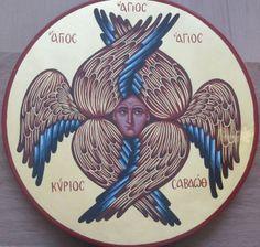 Religious_icon_art - Home - Αρχική Byzantine Icons, Byzantine Art, Religious Icons, Religious Art, Seraphin, Angel Sculpture, Tattoo Flash Art, Roman Art, Doodle Sketch
