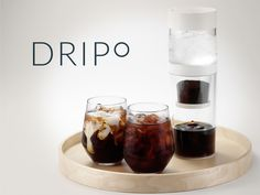 """Dripo"" is a 3-in-1 iced-drip coffee maker brings a fresh and easier way for you to make and enjoy your own cold brew coffee anywhere."