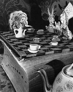 Abelardo Morell is brilliant. This series of photographs on Alice in Wonderland nod their head to the Tenniel illustrations, while creating something completely unique.