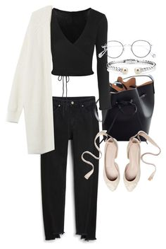 """Untitled #21904"" by florencia95 ❤ liked on Polyvore featuring Monki, Mansur Gavriel, Ballet Beautiful, Ahlem and Blue Nile"