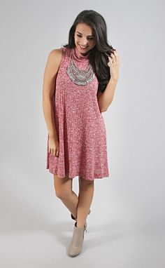 keep it casual tank dress - burgundy from ShopRiffraff.com
