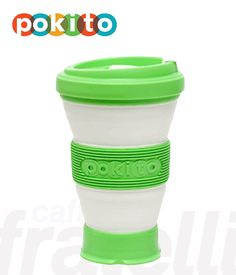 Sustainable and reusable coffee cup, a practical alternative to disposable coffee cups. Pokito is a reusable coffee cup that collapses down into a cm container when not in use. This allows consumers to easily stow their coffee cup in their pocket, bag Disposable Coffee Cups, Reusable Coffee Cup, Canning, Mugs, Tableware, Women, Dinnerware, Women's, Home Canning