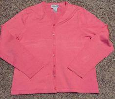 Pendleton-Womens-Silk-nylon-Pink-Cardigan-Size-Medium