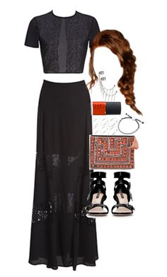 """""""Outfit for prom"""" by ferned ❤ liked on Polyvore featuring Fame & Partners, ASOS, Zara, Links of London, NARS Cosmetics and Topshop"""