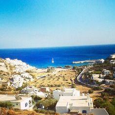 Alopronia ,the port of Sikinos island (Σίκινος) . Beautiful place with a wonderful beach ☀️.