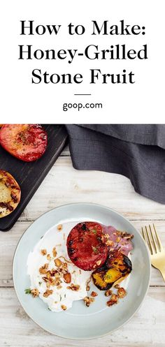 Honey-Grilled Stone Fruit with Berry Whip