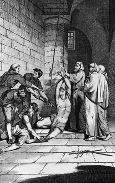 English merchant Nicholas Burton is tortured by officers of the Spanish Inquisition in Cadiz. He was martyred at the stake in Seville in 1560.