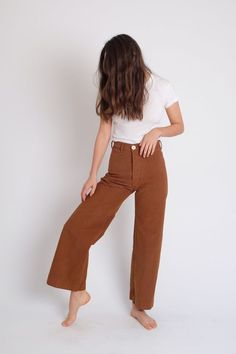 Shop Mille - Sailor Pants in Skin Tone 34 Basic Style, Style Me, Jesse Kamm Sailor Pant, Kamm Pants, Look Fashion, Womens Fashion, Sailor Pants, Moda Vintage, Looks Style