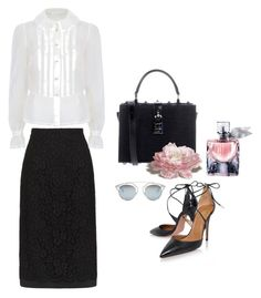 """""""Petite Sophisticate"""" by jacque-reid ❤ liked on Polyvore featuring Dolce&Gabbana, Aquazzura, Lancôme, Christian Dior, Dior, lancome and dolcegabbana"""