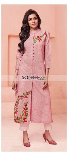 Plain Kurti Designs, Silk Kurti Designs, Churidar Designs, Kurta Designs Women, Kurti Designs Party Wear, Latest Kurti Designs, Sleeves Designs For Dresses, Dress Neck Designs, Blouse Designs