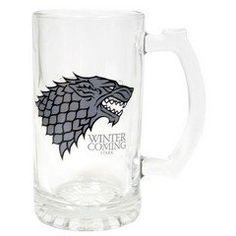 "Game Of Thrones - Stark ""Winter is coming"" beer glass"