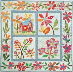 "Love this quilt from ""The Best-Ever Applique Sampler by Piece O' Cake!"
