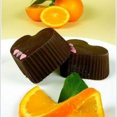 Choco orange hearts