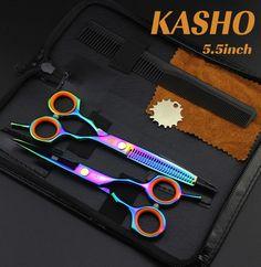2016 New KASHO 5.5INCH Hair Scissor Set  Hairdressing scissors good quality free shipping