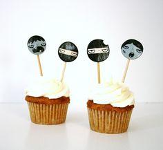 zombies vs ninjas cupcake toppers.