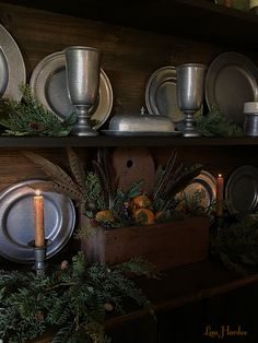Pewter Prim Colonial Christmas