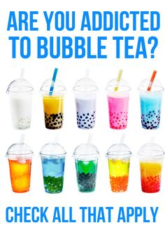 Are You Addicted To Bubble Tea. Short answer: Yes.