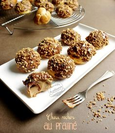 Food Truck Desserts, Just Desserts, Dessert Recipes, Cream Puff Dessert, Cream Puff Recipe, Choux Pastry, Pastry Cake, Churros, Puff And Pie
