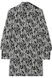 Printed crepe mini dress