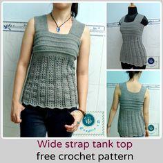 crochet wide strap tank top