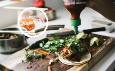 Banh Mi Tacos - Korean and Mexican influences packed into a tasty taco.