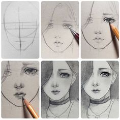 Learn To Draw Manga - Drawing On Demand Manga Drawing, Drawing Sketches, Pencil Drawings, Art Drawings, Drawing Art, Manga Art, Art Du Croquis, Poses References, Drawing Techniques