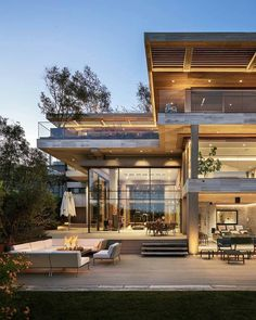 Contemporary house is built according to the latest trends. The contemporary mov… Contemporary house is built according to the latest trends. The contemporary movement in architecture began in XX century. Modern Architects, Luxury Homes Dream Houses, Modern Architecture House, Residential Architecture, Pavilion Architecture, Sustainable Architecture, Beautiful Architecture, Interior Architecture, Dream House Exterior