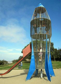 Rocketship slide