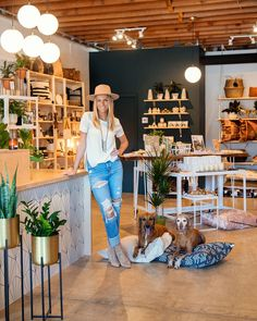 """Home & Hound's owner, Brittany Garbani, is on a mission to make home decor and dog garb jibe harmoniously. The inventory's neutral color palette and Garbani's minimalist-meets-boho aesthetic is a big part of it. The shop is a true 50/50 split between serving humans and dogs. We couldn't agree more with the shop's tagline, """"Home is where your hound is""""—so decorate accordingly. Computer Repair Shop, Boho Aesthetic, Dog Shop, Neutral Colour Palette, Dog Accessories, Beautiful Dogs, Dog Bed, Decoration, San Diego"""
