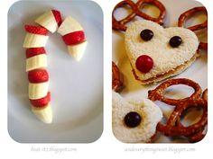 Reindeer pbj hearts for Xmas eve appetizer
