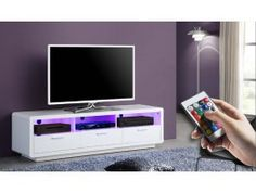 meuble tv design cavalli blanc laqué 175 cm | meubles | pinterest ... - Meuble Tv Design Blanc Laque Cavalli