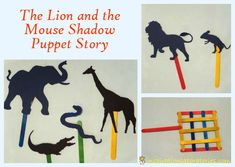 The Lion and the Mouse Shadow Puppet Story inspired by the ebook at @MeMeTales Children's Stories #readforgood