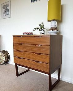 Retro MidCentury Chest Of Drawers Cabinet Sideboard Vintage 60s 70s