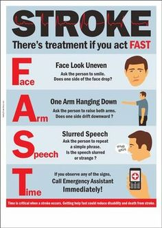 Stroke : There's treatment if you act FAST - Nurses Tips first aid Stroke : There's treatment if you act FAST Survival Tips, Survival Skills, Wilderness Survival, First Aid Poster, Camping In Deutschland, First Aid Cpr, Emergency First Aid, Emergency Medicine, Emergency Medical Responder