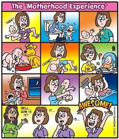 Mijn kinderen zijn geen baby's meer, maar zo heb ik het ook ervaren. En toch: het is geweldig om moeder te zijn!