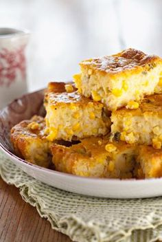 Corn Bread Casserole with Fresh Corn and Green Onions