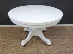 Retrocraft Design : Tables : Lion's Paw Painted Pedestal Table