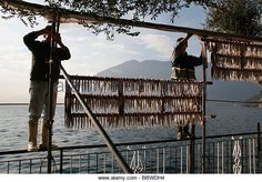 montisola, lago d'iseo, lombardy, italy - Stock Image